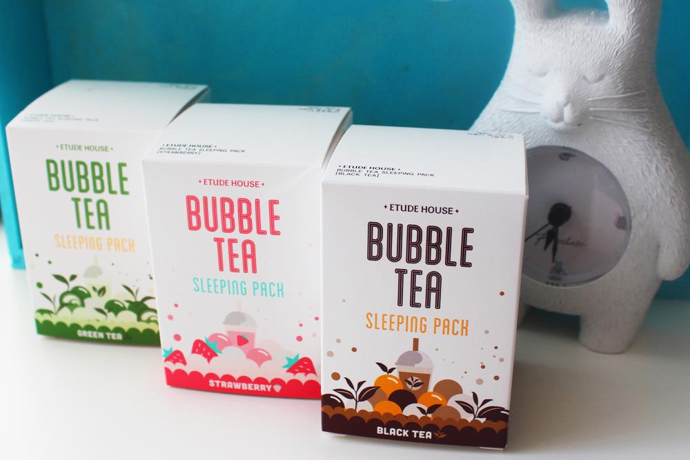 Etude House Bubble Tea Sleeping Pack ночные маски для ухода за кожей