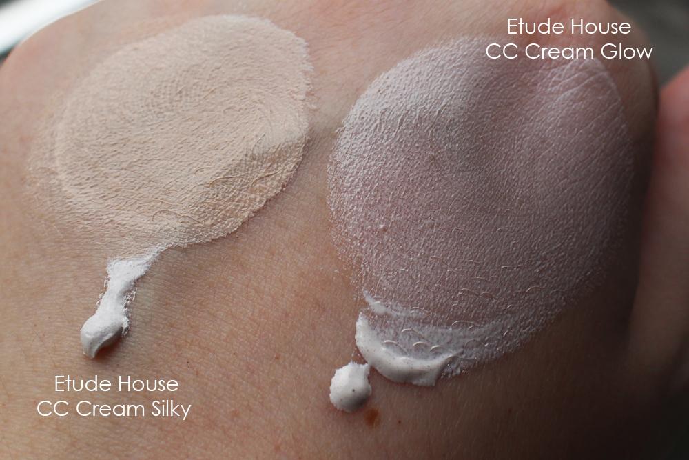 CC кремы Etude House Correct & Care Glow и Silky