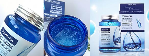 Ампульная сыворотка с коллагеном FarmStay Collagen Hyaluronic Acid All-In-One Ampoule