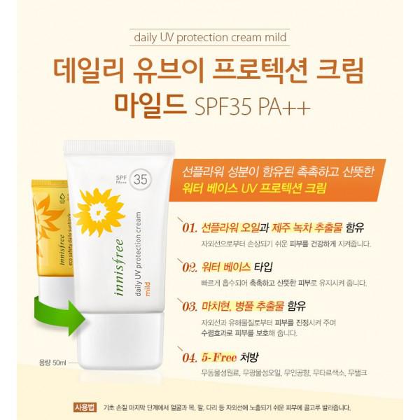 Innisfree Daily UV Protection Cream Mild SPF35/PA++