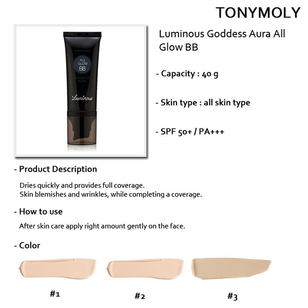 Tony Moly Luminous Goddess Aura All Glow BB SPF50+/PA+++