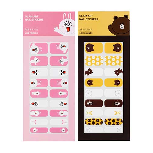 Missha Line Friends Edition Glam Art Nail Sticker