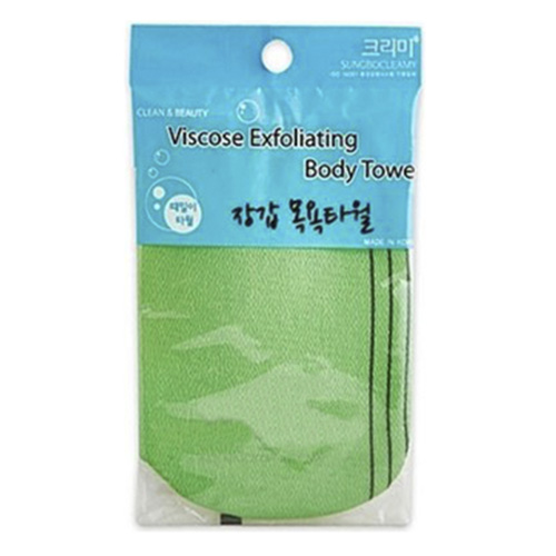 Мочалка-варежка для душа Viscose Glove Bath (зел) Sungbo Cleamy Viscose Glove Bath Towel