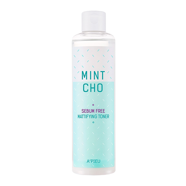 A'PIEU Mint Cho Sebum Free Mattifying Toner