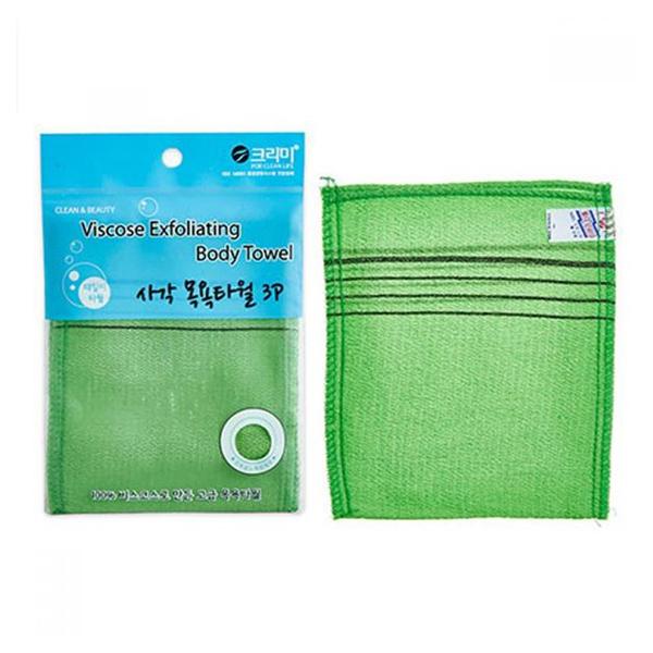 Мочалка для душа Sungbo Cleamy Viscose Squared Bath Towel 13,5х15