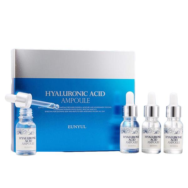 Набор ампульных сывороток с гиалуроновой кислотой Eunyul Hyaluronic Acid Ampoule 4p set