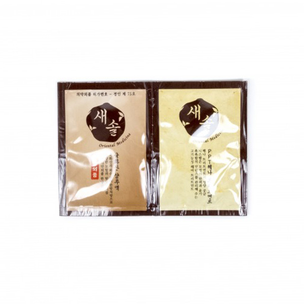 Лечебные шампунь+маска для волос (пробник) JPS Mielle The Scalapy Saesol Shampoo & Mask Pouch