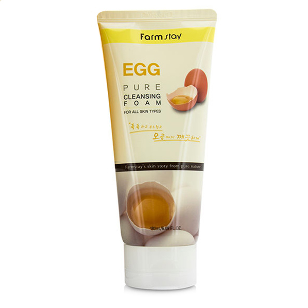 Пенка с яичным экстрактом FarmStay Egg Pure Cleansing Foam