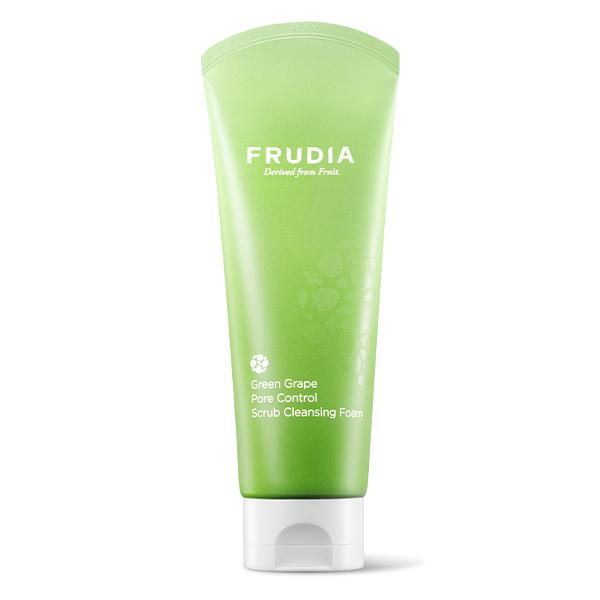Себорегулирующая скраб-пенка с экстрактом винограда Frudia Green Grape Pore Control  Scrub Cleansing Foam