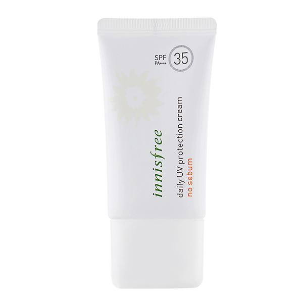 Солнцезащитный крем для жирной кожи Innisfree Daily UV Protection Cream No Sebum SPF35/PA+++