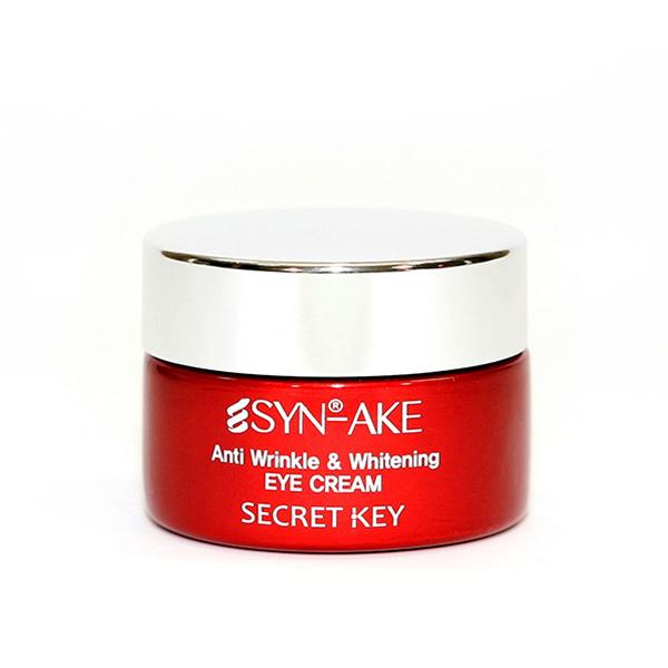 Антивозрастной крем для кожи вокруг глаз с Syn-Ake пептидом Secret Key SYN-AKE Anti Wrinkle & Whitening Eye Cream