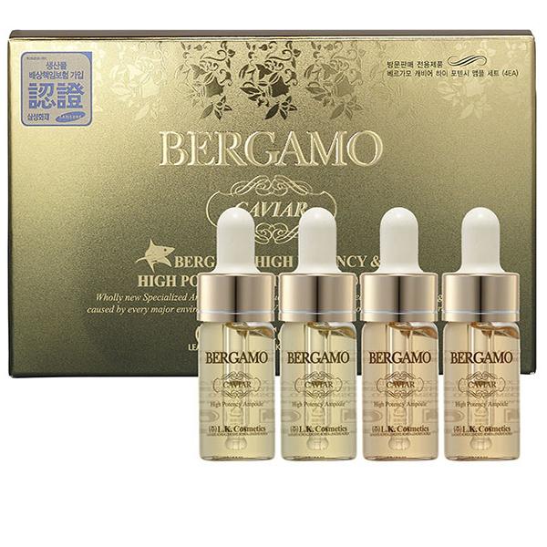 Набор ампульных сывороток с экстрактом чёрной икры Bergamo Caviar High Potency Vitamin Ampoule 4 pcs