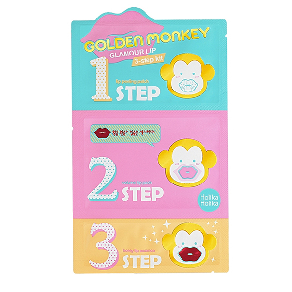 Holika Holika Golden Monkey Glamour Lip 3-Step