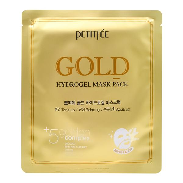Гидрогелевая маска с золотом Petitfee Gold Hydrogel Mask Pack