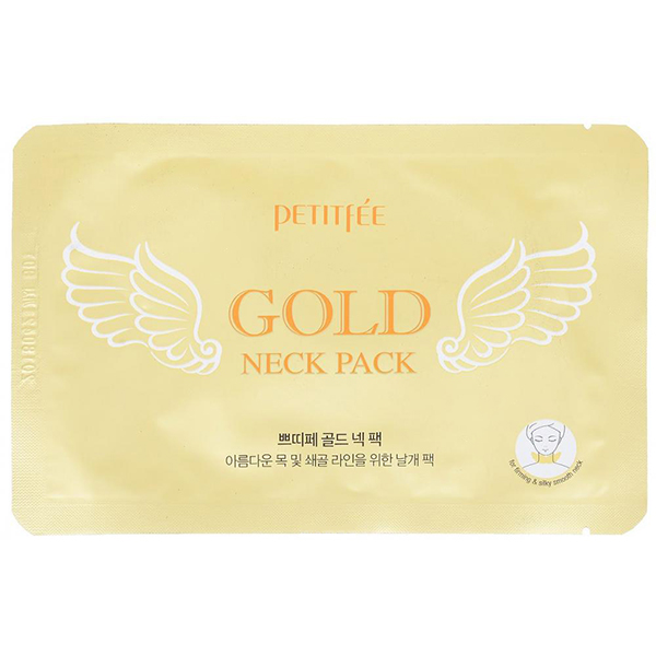 Локальный патч для шеи  Petitfee Hydrogel Angel Wings Gold Neck Pack
