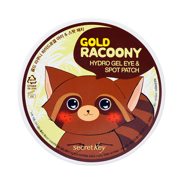 Гелевые патчи под глаза 60+30 шт Secret Key Gold Racoony Hydrogel Eye and Spot Patch