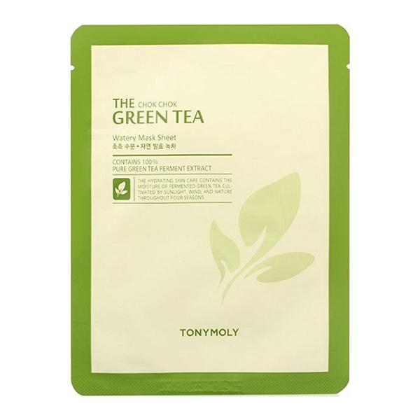 Тканевая маска с зелёным чаем Tony Moly The Chok Chok Green Tea Watery Sheet