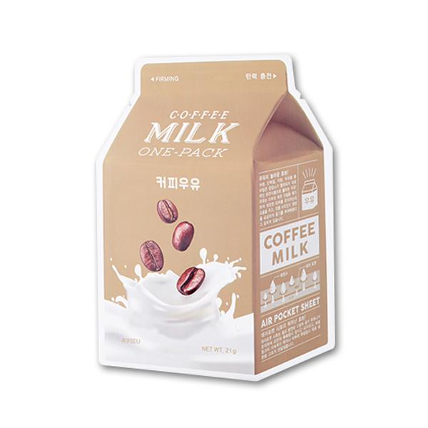 Молочная тканевая маска с кофе A'PIEU Coffee Milk One Pack