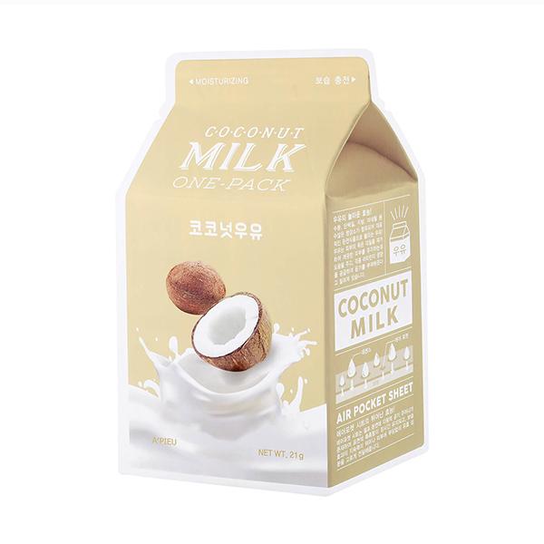 Молочная тканевая маска с кокосом A'PIEU Coconut Milk One Pack