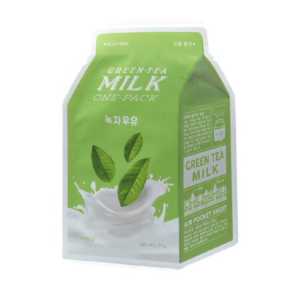 Молочная тканевая маска с зелёным чаем A'PIEU Green Tea Milk One Pack