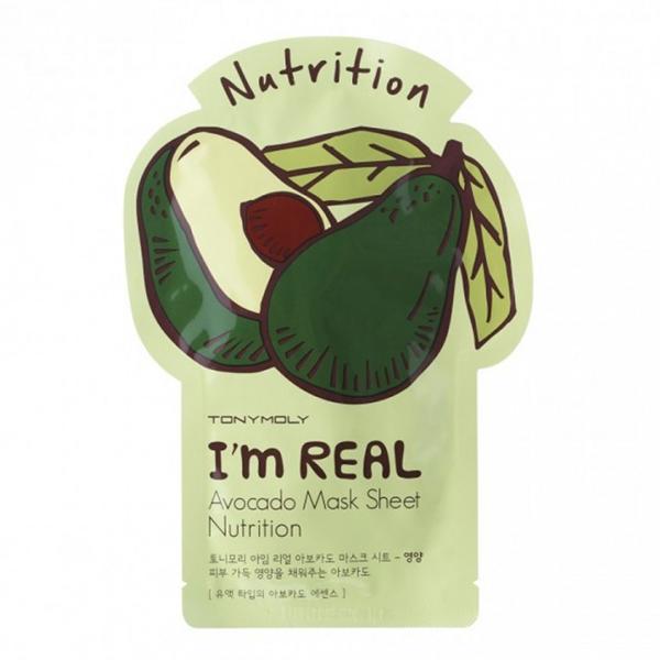 Тканевая маска для лица Tony Moly I'm Real Avocado Mask Sheet