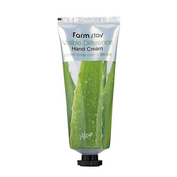 Крем для рук с натуральным экстрактом алоэ вера FarmStay Visible Difference Aloe Vera Hand Cream