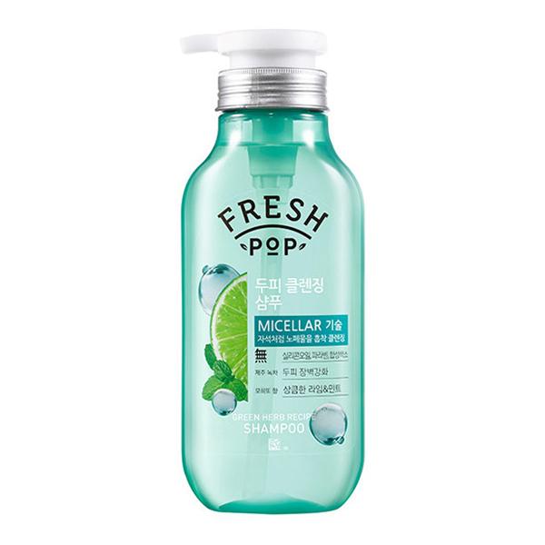 Глубоко очищающий шампунь на основе мохито Fresh Pop Green Herb Recipe Shampoo