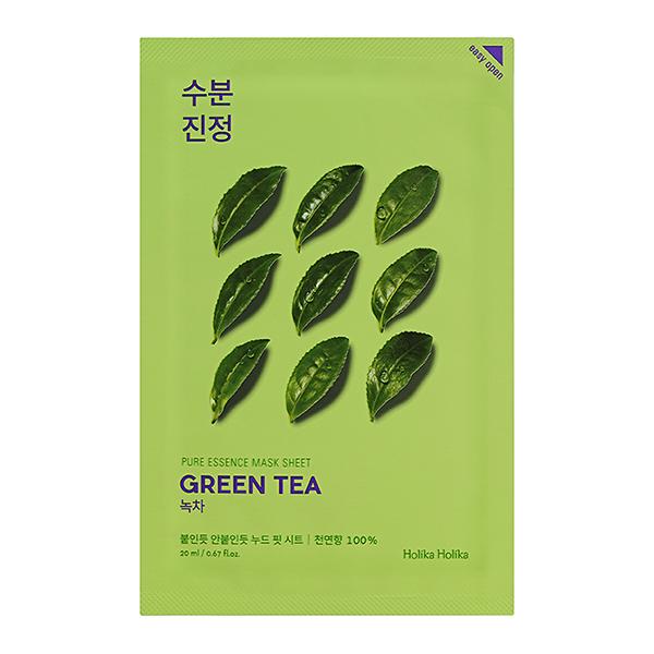Тканевая маска с зелёным чаем Holika Holika Pure Essence Mask Sheet Green Tea