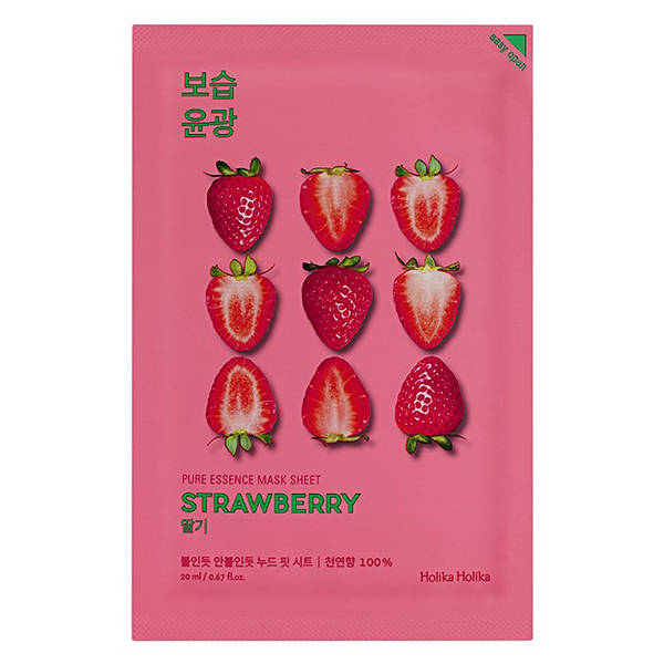 Тканевая маска с клубникой Holika Holika Pure Essence Mask Sheet Strawberry