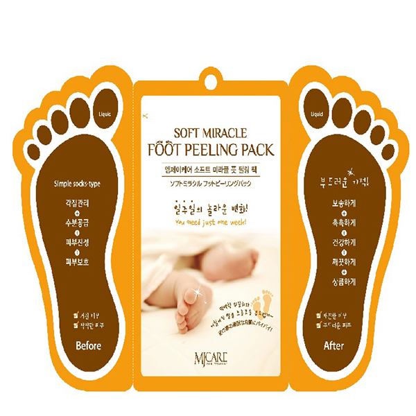 Пилинг для ног MJ Care Soft Miracle Foot Peeling Pack
