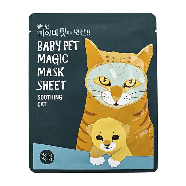 Успокаивающая тканевая маска Holika Holika Baby Pet Magic Mask Sheet Soothing Cat