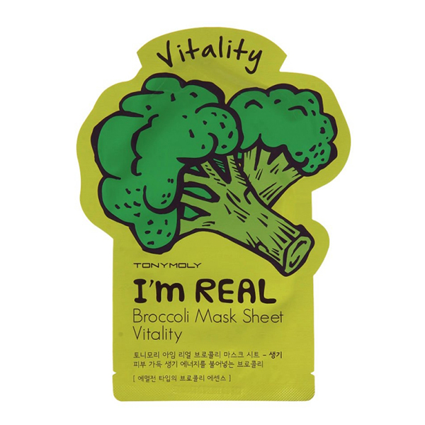 Тканевая маска с брокколи Tony Moly I'm Real Broccoli Mask Sheet