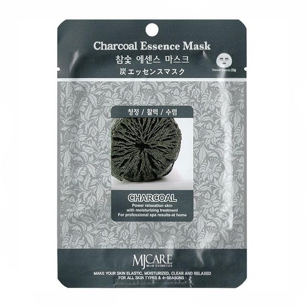 Тканевая маска с углём MJ Care Essence Mask Charcoal