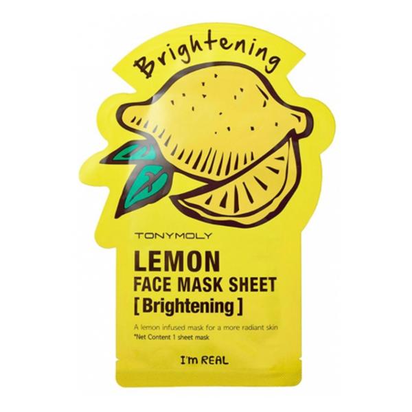 Тканевая маска с лимоном Tony Moly I'm Real Lemon Mask Sheet