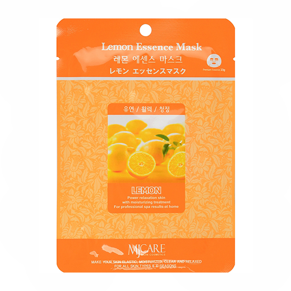 Тканевая маска с лимоном MJ Care Essence Mask Lemon