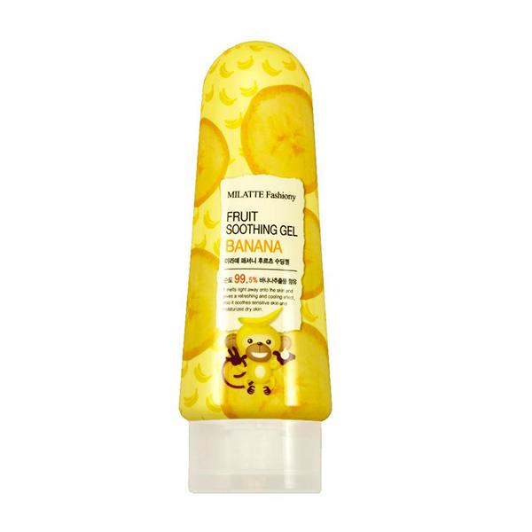 Многофункциональный гель для лица и тела с бананом Milatte Fashiony Fruit Soothing Banana Gel