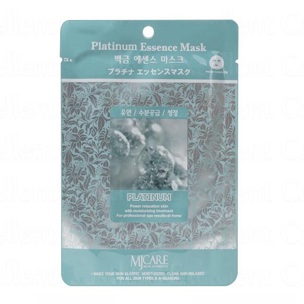 Тканевая маска с платиной MJ Care Essence Mask Platinum