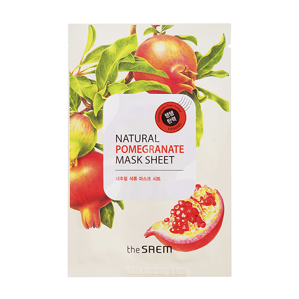 Тканевая маска с гранатом  The Saem Natural Mask Sheet Pomegranate old