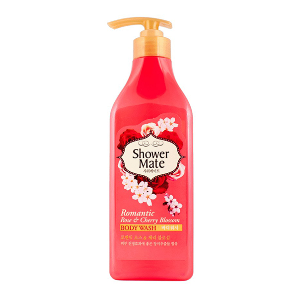 Гель для душа с экстрактом розы и вишни Aekyung Shower Mate Rose & Cherry Blossom Body Wash