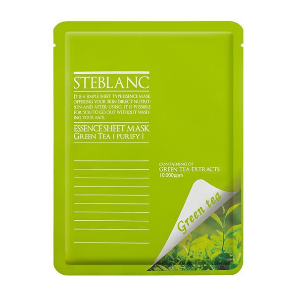 Тканевая маска с зелёным чаем Steblanc Essence Green Tea Sheet Mask