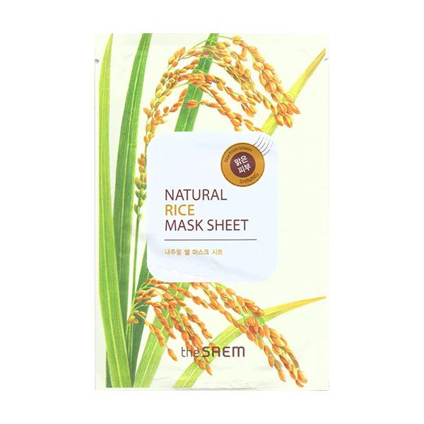Тканевая маска с рисом The Saem Natural Mask Sheet Rice old