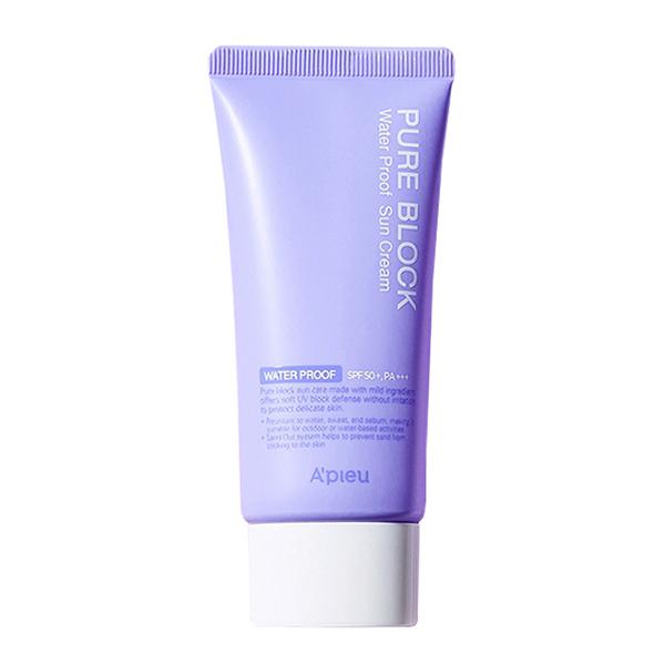 Ультрастойкий солнцезащитный крем A'PIEU Pure Block Water Proof Natural Sun Cream SPF50 PA+++