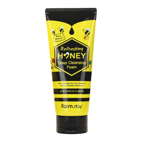 Медовая пенка для умывания FarmStay Refreshing Honey Deep Cleansing Foam