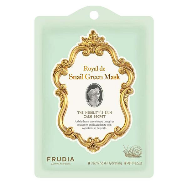 Тканевая маска с муцином королевской улитки Frudia Royal de Snail Green Mask