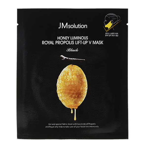 Лифтинг-маска для V зоны с прополисом JMsolution Honey Luminous Royal Propolis Lift-Up V Mask
