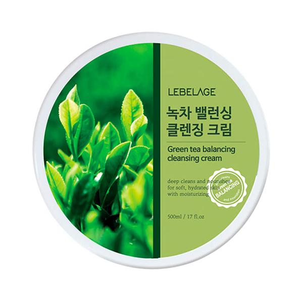 Очищающий крем-бальзам с экстрактом зелёного чая Lebelage Green Tea Moisture Cleaning Cleansing Cream