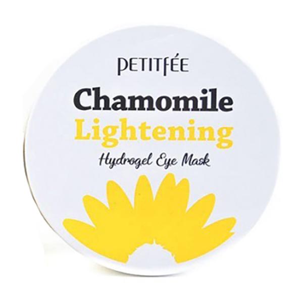 Осветляющие патчи для глаз с ромашкой Petitfee Chamomile Lightening Hydrogel Eye Mask Patch