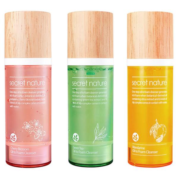 Secret Nature Oil to Foam Cleanser
