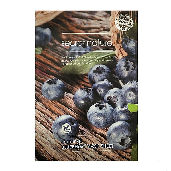 Тканевая маска для лица с черникой Secret Nature Blueberry Mask Sheet