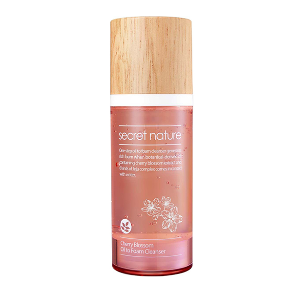 Очищающая пенка-масло с экстрактом вишни Secret Nature Cherry Blossom Oil to Foam Cleanser